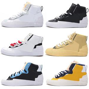 Nike Blazer Mid Sacai Blazers Dunk Running Freizeitschuhe für Männer Frauen Maize Navy University Blue Camo Schwarz Weiß Herren Sneakers