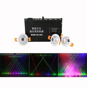 Rojo Verde Azul Haz Proyector Línea Controlador de cortina láser 8 canales DMX 12CH DJ Party Show Iluminación de escenario Colocación gratuita HZG-8-16CH