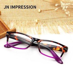 JN Retro Moda Kadın Okuma Gözlüğü Erkek Tam Çerçeve Şeffaf Reçine Lens t18957 Glasses