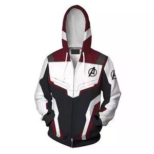 Avengers 4 Endgame Kuantum Realm 3D Baskı Hoodies Süper kahraman hoodies Erkek kadın Fermuar Tişörtü Ceket Cosplay Kostüm