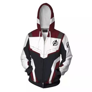 2019 Wholesale Men and Woman 3D Printed Avengers Endgame Quantum Realm Cosplay Costume hooides America Captain Marvel Hoodie Ypf193
