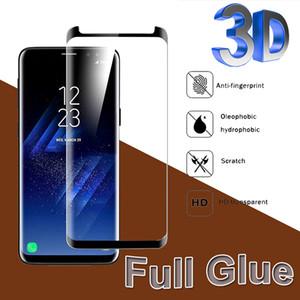3D منحني كاملة الغراء الزجاج المقسى كاملة المضادة للبصمة حامي شاشة السينما لسامسونج غالاكسي S20 S10 فائق 5G S9 S8 ملاحظة 10 زائد 9 8