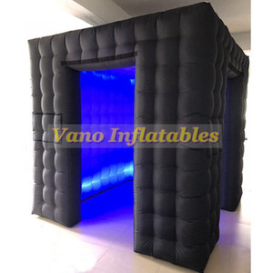 İç Hava Blower ve Etkinlik Düğün için Uzaktan Kumanda LED Işıklar Photobooth Arka Plan ile LED Şişme Photo Booth
