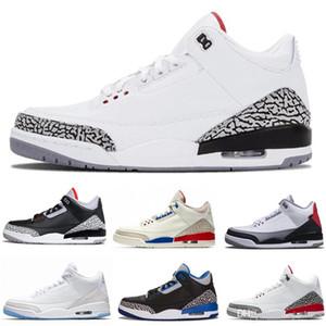 Scarpe da basket da uomo di qualità 3s 3 JTH NRG nero cemento bianco puro Katrina uomo donna designer scarpe da ginnastica scarpe sportive formato USA