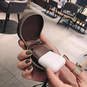 De lujo del diseñador italiano auriculares caso para Airpods Caso Conveniente para Apple airpods paquete de auriculares