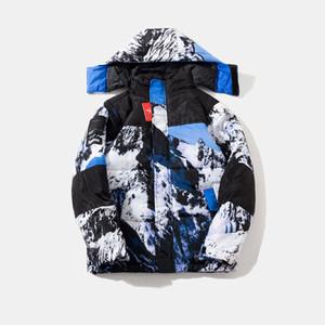 Nouveau nord d'hiver en plein air manteaux Goose Parkas vêtements hommes vers le bas Thicken gardent hoodies vêtements de plein air en plein air chaud Face Vestes Pardessus