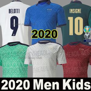 2020 2021 Italia Camisetas de fútbol INSIGNE IMMOBILE EURO 20 21 Ventiladores y jugador versión Italia hombre Uniforme Niños BELOTTI TOTTI Camiseta de fútbol