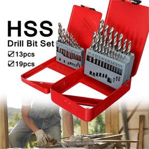 13pcs 1.5-6.5 mm / 19pcs 1-10mm Twist Drill HSS Set With Wood Hole Drill Case new