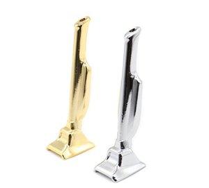 Novo Mini Tubo De Ouro Homem Tubo 60mm de Liga de Zinco Filtragem Snuff Bottle Long-style Ferramenta de Tabaco