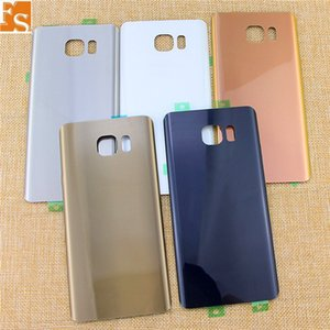 50pcs Glass Battery Door Back Cover Housing + Adhesive Sticker For Samsung Galaxy Note 5 N920F N920A N920T N920V (single or double logo)
