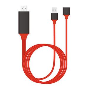 Universal HDMI Cable Plug and Play TV HDMI HDTV Adaptateur AV numérique Câble USB 1080P Téléphone à TV 2.0 Type C Micro 5pin éclairage 1M