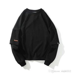 di alta qualità di stampa paio abbigliamento marea progettista degli uomini hoodie di marca allentato Via hip hop di modo del Mens bianco di cotone con cappuccio riquadro rosso serpente Sw