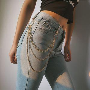 correntes de ouro multicamadas Belly Chains mulheres vestidos de calças cadeia de cintura corpo corrente hip hop corpo jóias piercing jóias 380202