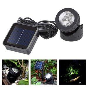 A prueba de agua con energía solar proyector de la lámpara del jardín LED Spot luz automático piscina exterior llevó Pond Yard Lámparas de luz LJJZ434