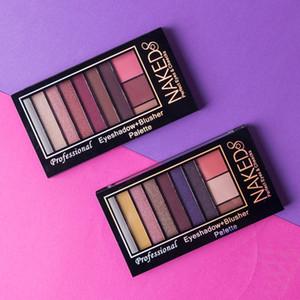 Multi Color Maquiagem Sombra para os olhos Dez cores Vinho tinto Sombra para os olhos Perolado fosco de longa duração