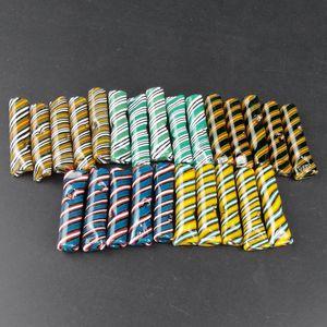 Mini perruque Wag en verre Conseils filtre avec plat bouche pour papier à rouler sec Herb Porte-cigarette en pyrex Pipes Filtres à tube fumeurs