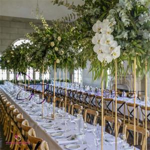 Fer Métal Or Jardinière Bougeoir route plomb table stand pilier Centerpieces Candlestick pour le mariage Candelabra