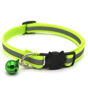 Adjustable Reflective Dog Collars Pet Collars With Bells Charm Necklace Collar For Little Dogs Cat Collars Pet Supplies Hot Sale VT0835