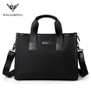 WILIIAMPOLO 2020 Business Men's Briefcase High Quality Totes Leather Men Laptop Handbags Messenger Bags For Male