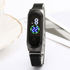New explosion models Korean version of the trend of fashion male and female students belt watch touch screen LED watch luminous magnet