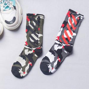 Calcetines de algodón para los hombres de camuflaje Stocking respirable fino calcetines de la manera deporte ocasional de las medias de diseño para hombre de la Mujer