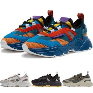 Sapatos de corrida dos homens Daymaster de alta qualidade em Estique Knit Preto Retro Moda Bege Mulheres Sneakers 3M reflexiva Itália Milão TECIDO NO BOX