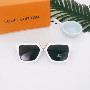 2019 popular sunglasses luxury women's wear brand square summer full picture frame quality anti uv mixed color UV400
