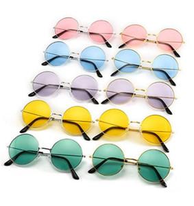 2019 venta al por mayor retro gafas redondas gafas de sol coloridas gafas de sol PC para hombres y mujeres accesorios de moda DC397
