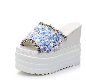 Women's Slippers 2020 New Summer women Muffin wedges slides ladies platform sandals femme Fashion Casual slippers size 35-39