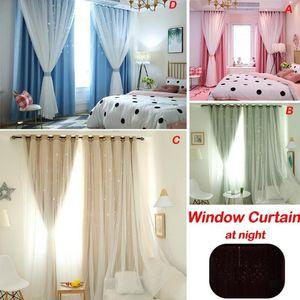 Estrelas brilhantes Crianças pano cortinas para Boy Girl crianças Quarto Sala Azul / Rosa Blackout Cortinas Custom Made Drape 40P