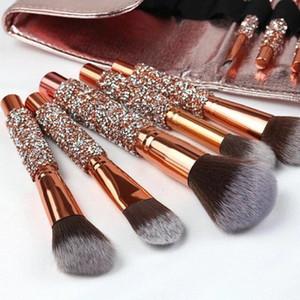 10 Sets Of Diamond Handle Makeup-Brush Set Beginner Eyeshadow-Brush Eyebrow Brush Blushes Loose Powder Makeup Tools