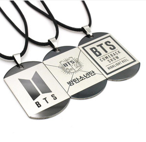 Kpop BTS Bangtan Boys Paslanmaz Çelik Hayranları Kolye Kolye Adı KIMLIK Etiketi JUNGKOOK SUGA JIMIN J-HOPE HAYRANLARı Takı hediyeler