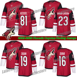 PHOENIX ARIZONA COYOTES Jersey 81 Phil Kessel 16 Max Domi Jersey 23 Oliver Ekman-Larsson Red White Blank Hockey Jerseys