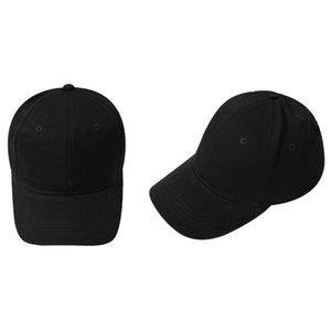 Kids Plain Baseball Cap Girls Boys Junior Childrens Hat Summer-Black