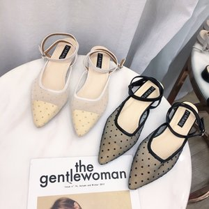 Sexy2019 Xia recomienda zapatos individuales de mujer Qiuji Gauze Sharp Leisure Time Flat Bottom