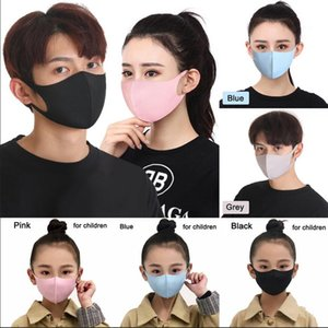 Ice Silk Dustproof Mouth Mask Washable Reusable Face Mask Adult Kids Comfy Anti Pollution Shield Wind Proof Mouth Cover LJJO7753