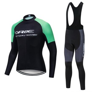 2020 ORBE PRO TEAM Modesti Cycling Clothing Set Autumn Breathable Bicycle Wear Long Sleeve MTB Bike Jersey Ropa