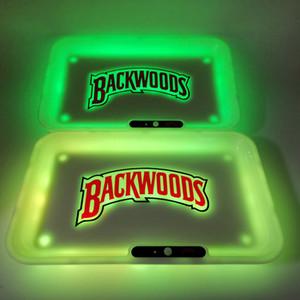Şarj edilebilir taşra Rolling Tepsi Glow 6 renk Sigara Tepsi 650mAh Dahili Pil LED Işık Glowtray Hızlı Şarj ile Hediye Paketleme
