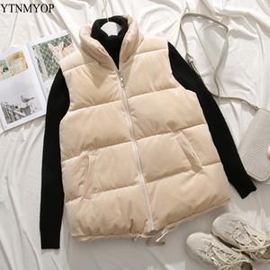 YTNMYOP Kış Kadife yelek kadın Kısa Yelek Dış Giyim Kalın Sıcak Kolsuz Ceket Coat Casual Tops