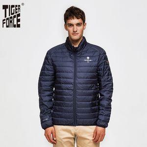 TIGER FORCE Herren Jacken versteckte Kapuze Oberbekleidung Mode Gepolsterte Baumwollmantel Ultra beiläufige Puffy Coats Man Parka mont erkek