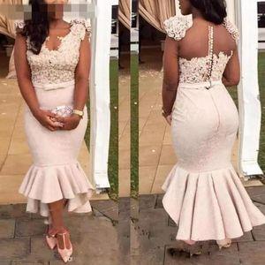Encantador Sereia Plus Size Vestidos de Festa de Formatura 3D Flores Rendas Applique Envolto Oi Lo Pageant Vestido Meninas Formais Elegantes Vestidos de Noite 2019