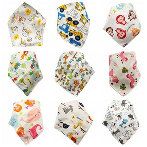 Newborn Baby Bibs Feeding Saliva Towel Dribble Triangle Bib Burp Cloths Cartoon Child Bandana Infant Absorbent Cloth 39 Designs DW5207
