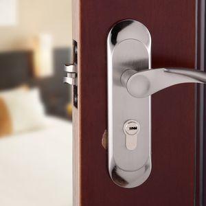 Современный алюминиевый замок Спальня ванная комната гостиная ручка ручка Инженерное оборудование дверная ручка