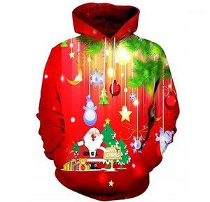 Pullovers Sweat-shirts Harajuku Hommes 3D Automne Noël Hoodies Designer Joyeux Noël à capuchon