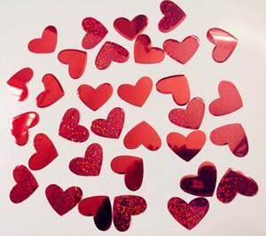 Kırmızı Kalp Şekli Konfeti Düğün Dekorasyon Serpin Konfeti Balon Konfeti Dolum Düğün Masa Dekor Malzemeleri