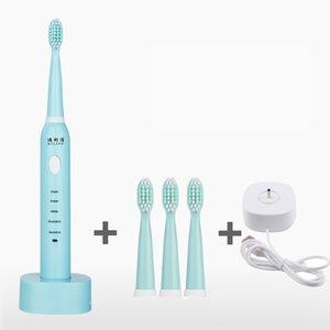 Spazzolini elettrici per adulti cura automatica dei denti con capelli morbidi caricati automaticamente 5 modalità IPX7 impermeabili con 3 testine e ricarica USB