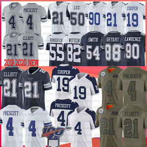 4 Dak Prescott Fußballjerseys 21 Ezekiel Elliott 55 Leighton Vander Esch 19 Amari Cooper 54 Jaylon Smith Jersey 82 Jason Witte