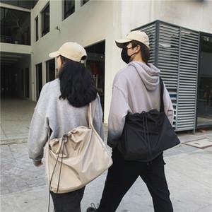 2019 Escola Homens E amantes Mulheres Corda Puxando ombro único pacote Ins Escuro Vento Concise Will Capacidade Saco de Compras
