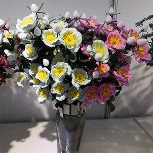 """Sahte Kısa Ev Düğün Dekoratif Yapay Çiçekler için PE Şakayık 26.77"""" Uzunluk Simülasyon Köpük Peonia Stem"""