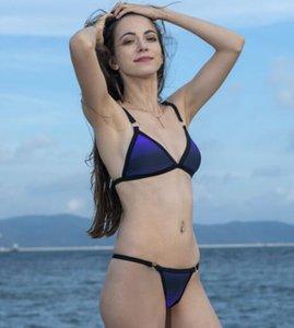 Bikini Print Leopard 2020 spor Seksi Mayo Brezilyalı pantolon mayo Bölümü Düğmesi düşük bel kayışı yakuda Damlama Kabul bölünmüş set